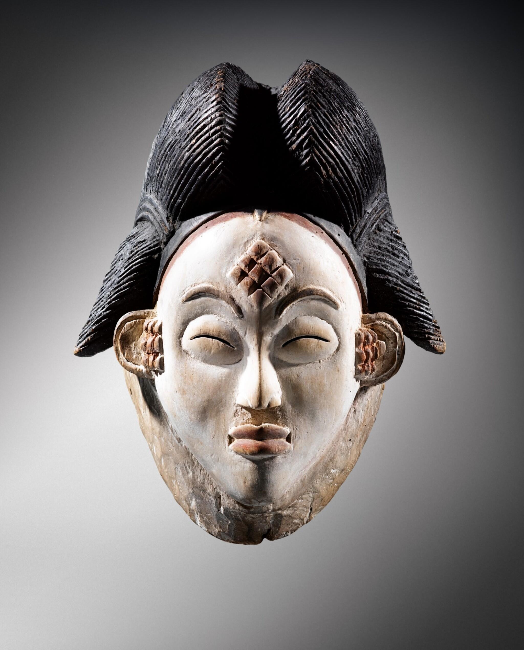 View full screen - View 1 of Lot 41. Masque, Punu, Gabon | Punu mukuya mask.