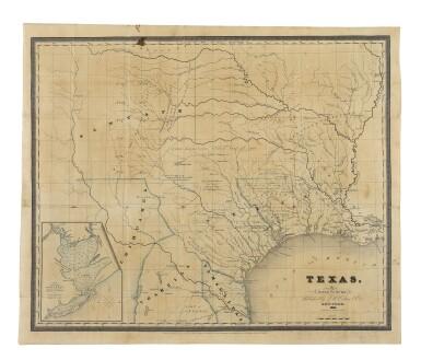 View 1. Thumbnail of Lot 174. BURR, DAVID H.   Texas. New York: J. H. Colton & Co., 1833.