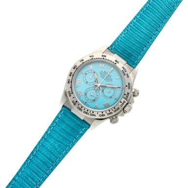 View 6. Thumbnail of Lot 211. Reference 116519 'Daytona Beach'  A white gold automatic chronograph wristwatch, Circa 2000.