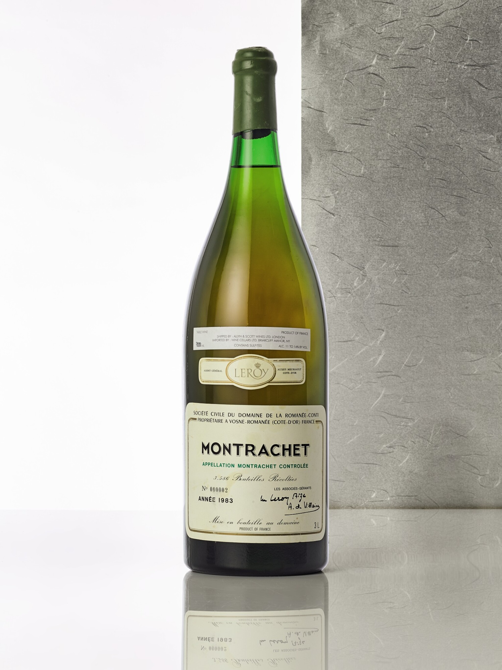 View full screen - View 1 of Lot 8097. Montrachet 1983 Domaine de la Romanée-Conti (1 JM30).