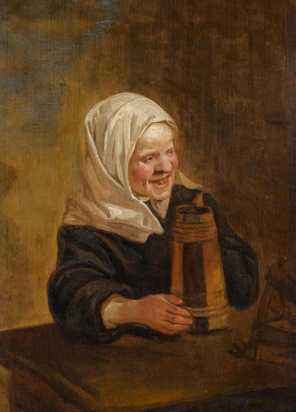 HARMEN HALS | A young peasant girl with a beer jug