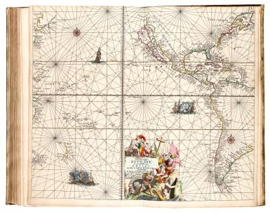 View 3. Thumbnail of Lot 296. Keulen. De Groote Nieuwe Vermeerderde Zee-Atlas ofte Water-Werelt. 1685, fine hand-colouring.