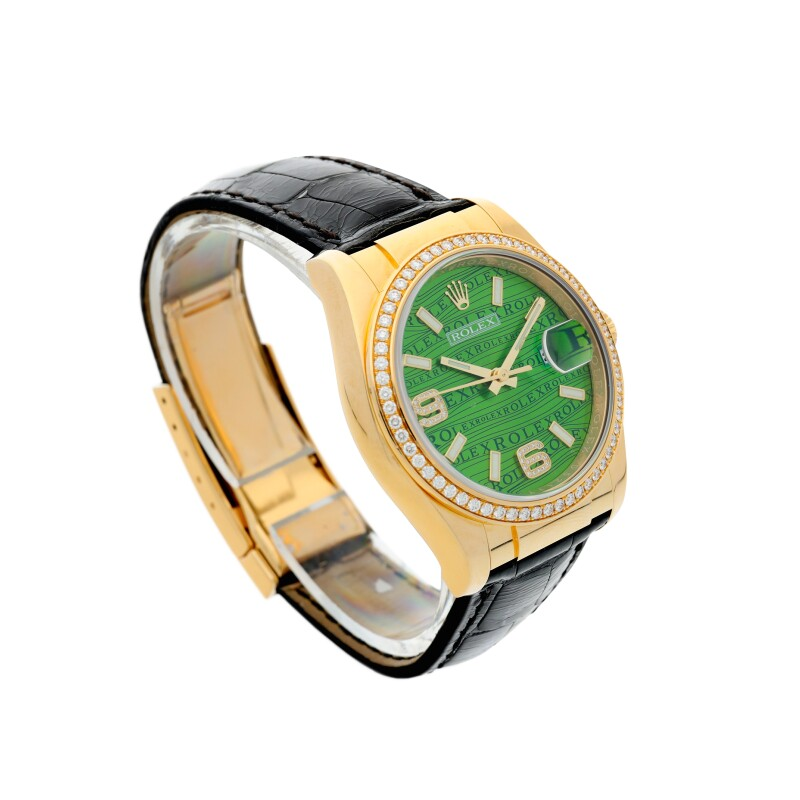 Datejust 'Green Waves', Reference 116188  A Yellow Gold and Diamond-set Automatic Wristwatch with Date, circa 2005