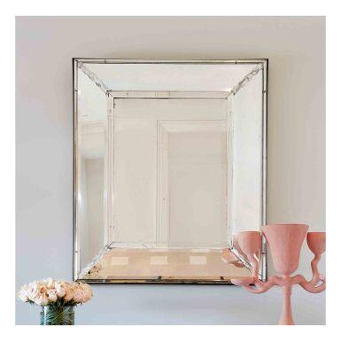 View 2. Thumbnail of Lot 66. Venetian-Style Glass Mirror.