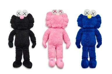 KAWS   BFF絨毛(黑、粉紅、藍)BFF Plush (Black & Pink & Blue) (three works)