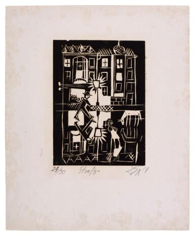 View 15. Thumbnail of Lot 60. Neun Holzschnitte (K. 23-31) (Nine woodcuts (K. 23-31)) .