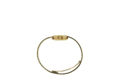 View 4. Thumbnail of Lot 147. PATEK PHILIPPE   REFERENCE 4106  RETAILED BY TIFFANY & CO.: A YELLOW GOLD BRACELET WATCH, MADE IN 1974.