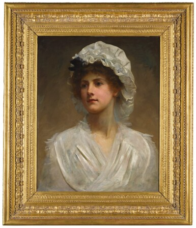 View 2. Thumbnail of Lot 26. PHILIP HERMOGENES CALDERON, R.A. | PORTRAIT OF A YOUNG WOMAN.
