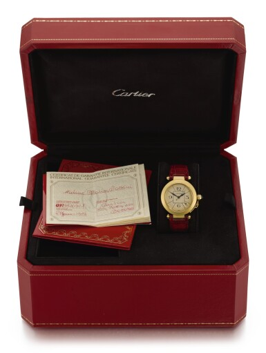 View 3. Thumbnail of Lot 18. CARTIER | PASHA, REFERENCE 1988 820901, YELLOW GOLD WRISTWATCH WITH DATE, CIRCA 1989.