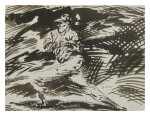RAYMOND PETTIBON | NO TITLE (DOTS THE LAST I...)