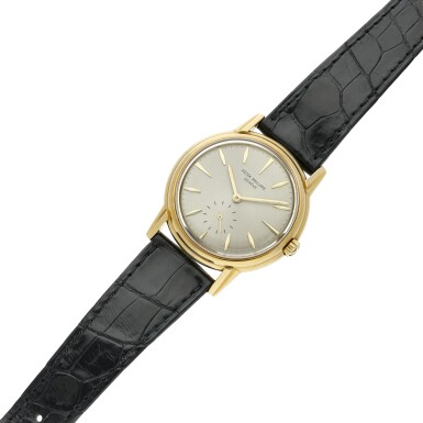 View 6. Thumbnail of Lot 230. Reference 3444  A yellow gold automatic wristwatch, Circa 1961 .