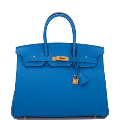 Hermès Bleu Zellige Birkin 35cm of Togo Leather with Gold Hardware