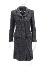 Black and white wool ensemble