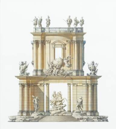 ANDREW ZEGA AND BERND H. DAMS | PROJECT OF A PAVILLION FOR THE EQUESTRIAN STATUE OF LOUIS XIV BY LE BERNIN [PROJET DE PAVILLON POUR LA STATUE EQUESTRE DE LOUIS XIV PAR LE BERNIN]