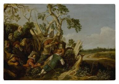 Soldiers preparing an ambush