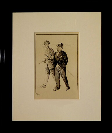 """View 1. Thumbnail of Lot 27. [Winston Churchill] — Leonard Moorhouse, artist 