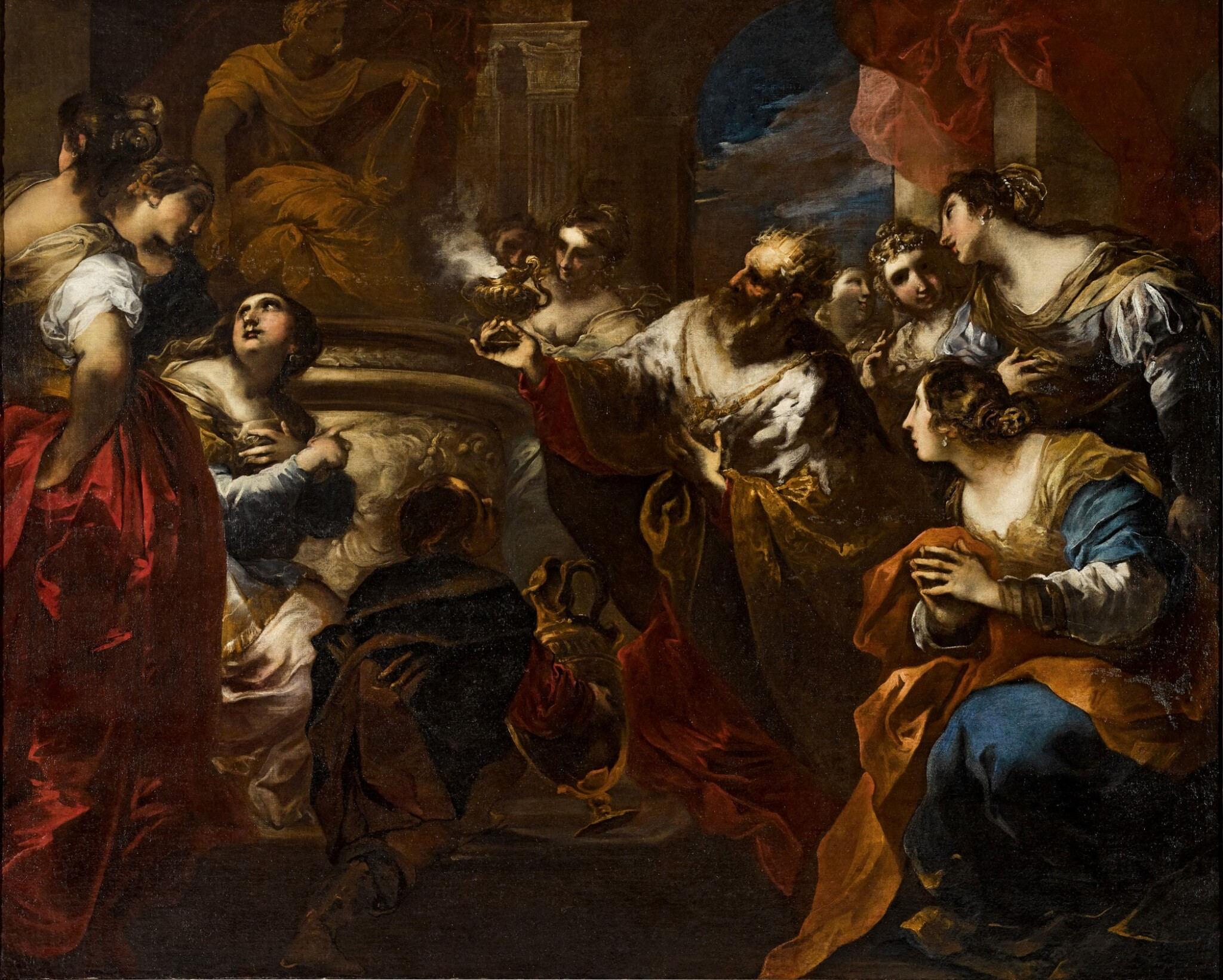 View full screen - View 1 of Lot 57. The Idolatry of Solomon.
