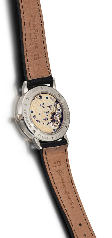 View 3. Thumbnail of Lot 63. A. LANGE & SÖHNE | 1815 MOON PHASE, REFERENCE 231.035, A LIMITED EDITION PLATINUM ASTRONOMICAL WRISTWATCH WITH MOON PHASES, MADE TO COMMEMORATE THE 150TH ANNIVERSARY OF EMIL LANGE'S BIRTH, CIRCA 1999.