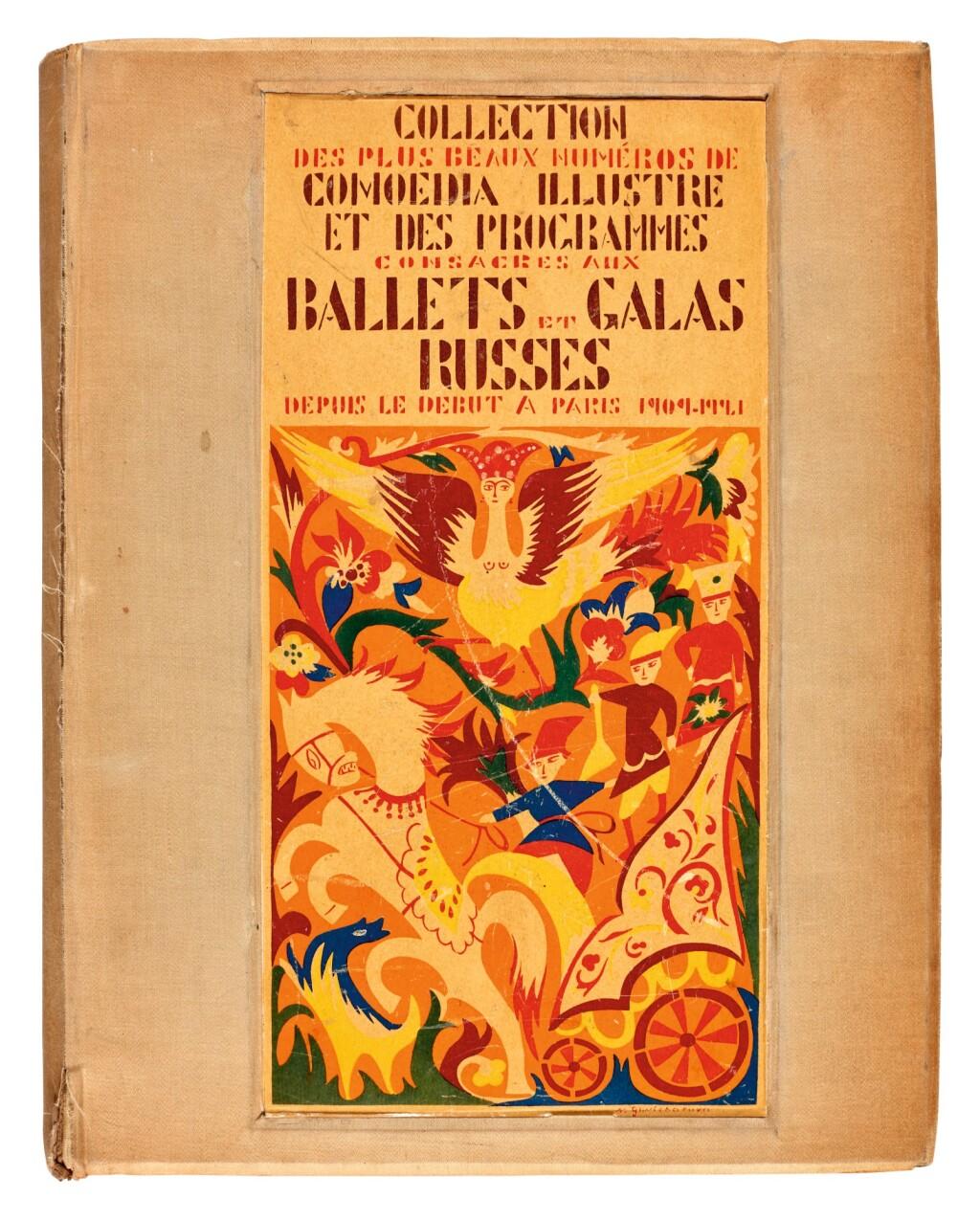 BALLETS RUSSES | COLLECTION DES PLUS BEAUX NUMÉROS DE COMOEDIA ILLUSTRÉ ET DES PROGRAMMES CONSACRÉS AUX BALLETS & GALAS RUSSES DEPUIS LE DÉBUT A PARIS 1909-1921. PARIS: M. DE BRUNOFF, [1922]