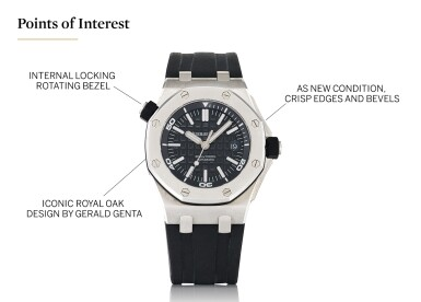 View 5. Thumbnail of Lot 6. AUDEMARS PIGUET   ROYAL OAK OFFSHORE, REF 15703ST STAINLESS STEEL WRISTWATCH WITH DATE CIRCA 2012.