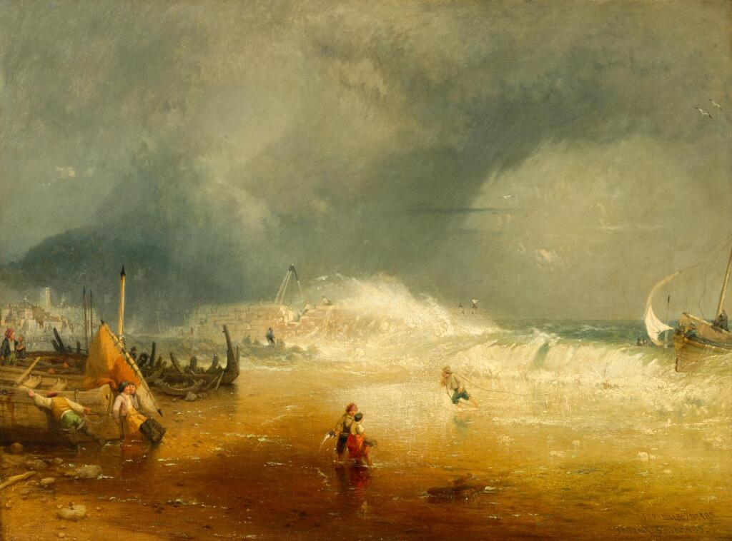 JAMES BAKER PYNE | Lyme Regis, a view of the Cobb
