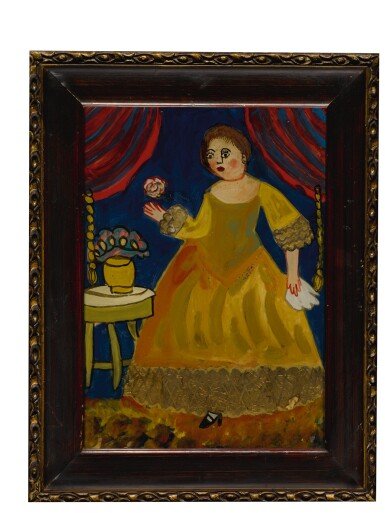 View 3. Thumbnail of Lot 1476. JANA VINOPAL   YOUNG AMERICAN GIRL HOLDING FRUIT WITH A CAT.