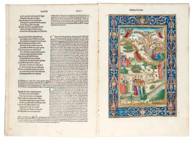 View 5. Thumbnail of Lot 183. Dante, La Commedia, Brescia, 1487, hand-coloured, disbound.