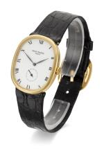 PATEK PHILIPPE | ELLIPSE, REFERENCE 3948  YELLOW GOLD WRISTWATCH  MADE IN 1987