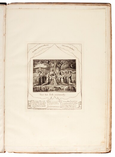 View 3. Thumbnail of Lot 91. BLAKE | Illustrations of the Book of Job, 1825 [but 1826].
