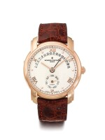 VACHERON CONSTANTIN | REF 47245/2 PATRIMONY, A PINK GOLD AUTOMATIC WRISTWATCH WITH DAY AND RETROGRADE DATE CIRCA 2000