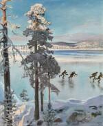 Skaters on Lake Ruovesi