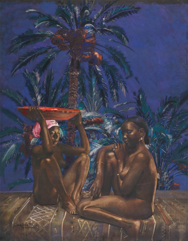 JACQUES MAJORELLE | Sous les palmiers dattiers