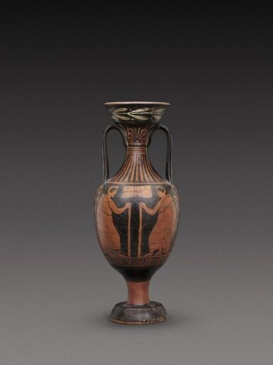 View 2. Thumbnail of Lot 55. An Apulian Red-figured Amphora, circa 350-330 B.C..
