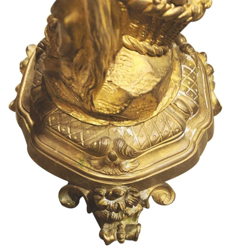 Napoleon III Bacchus and Bacchante Candelabras