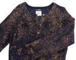BLUE, BLACK AND METALLIC CACHEMIRE-BLEND KNIT DRESS, CHANEL