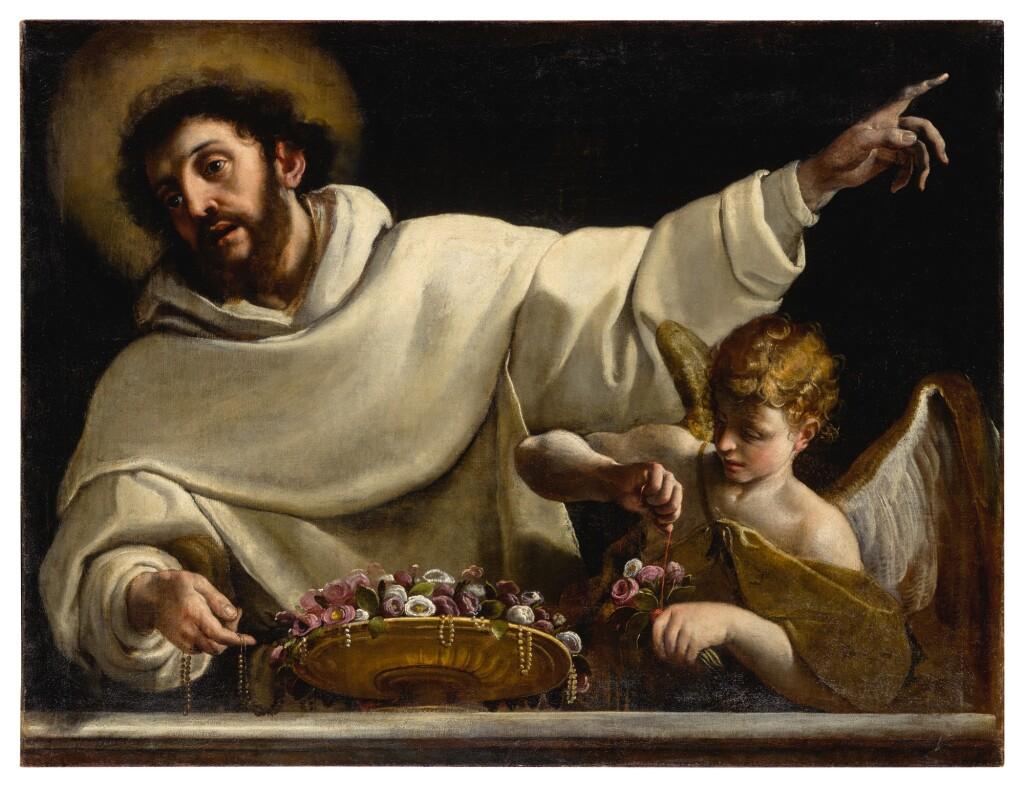 ALESSANDRO TIARINI   SAINT DOMINIC AND AN ANGEL
