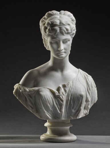 View 1. Thumbnail of Lot 7. PROSPER D' EPINAY | GRECIAN BUST.
