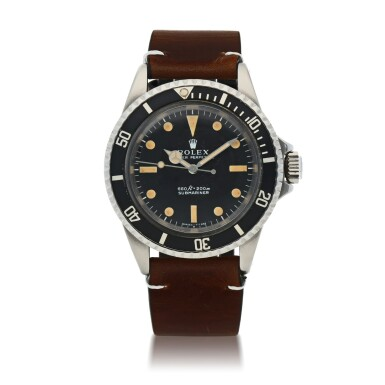 View 1. Thumbnail of Lot 403. SUBMARINER, REF 5513 STAINLESS STEEL WRISTWATCH CIRCA 1966.