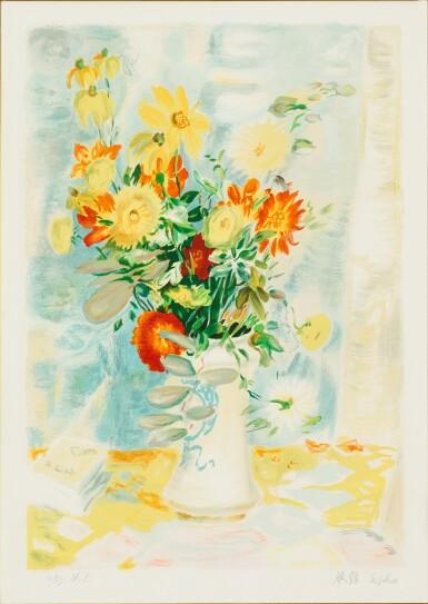 View 6. Thumbnail of Lot 4514. (i) Le Fleurs (ii) An associated lithograph of Le Fleurs (Hors Commerce 1) | (I)花卉  (II)相關石版畫.