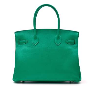 View 4. Thumbnail of Lot 346. Menthe Birkin 30cm in Chèvre Mysore Leather with Palladium Hardware, 2013.