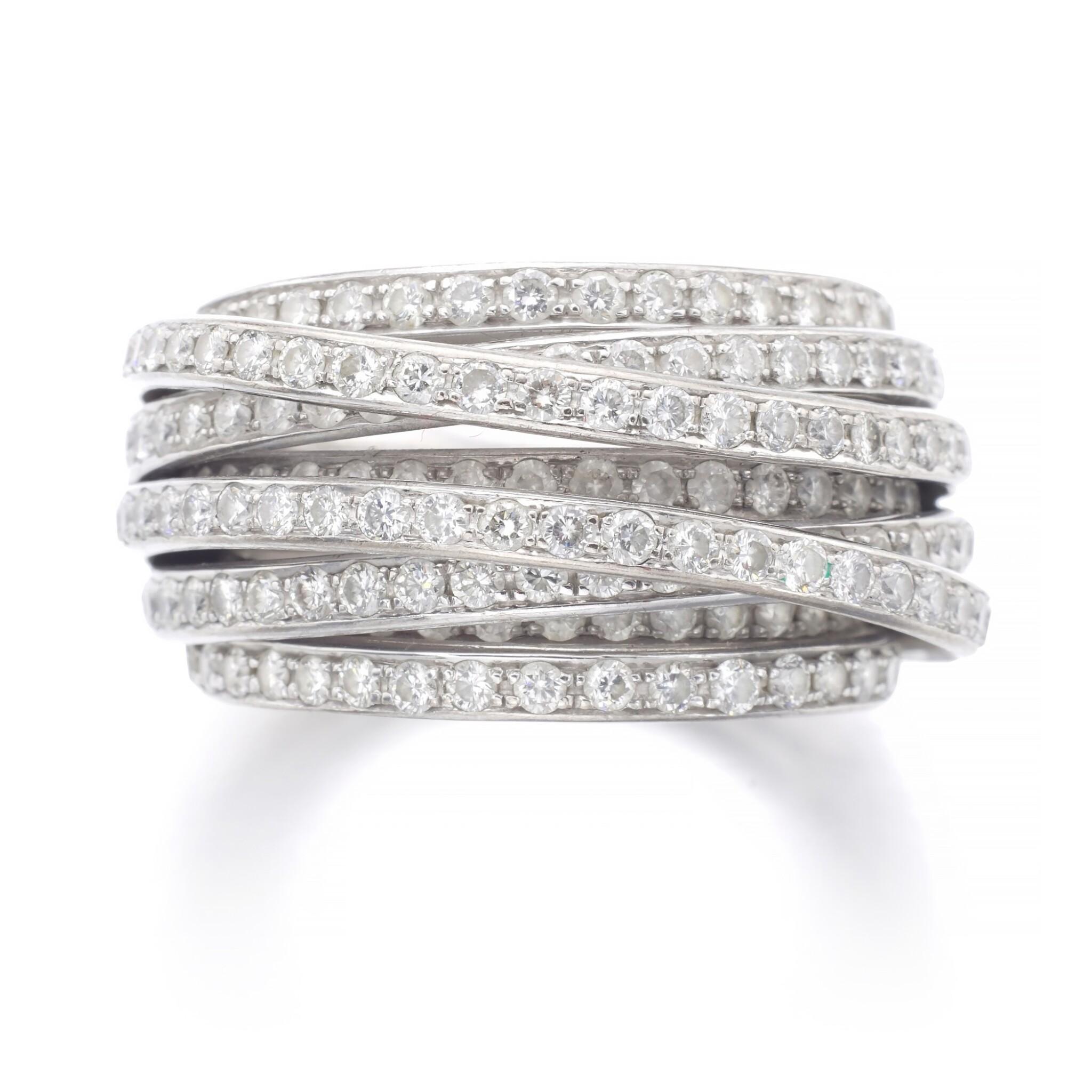 View full screen - View 1 of Lot 1090. Diamond ring, 'Allegra'.