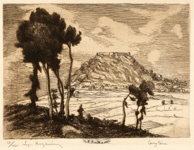 View 1. Thumbnail of Lot 154. Kogevinas. La Grèce byzantine et franque. [1927], limited edition signed by the artist.