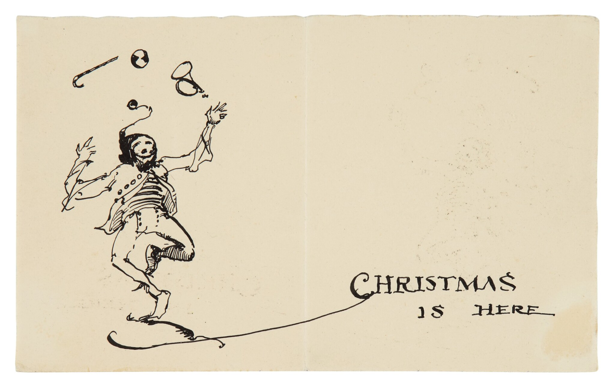 View 1 of Lot 114. Christmas is Here: A Christmas Card.