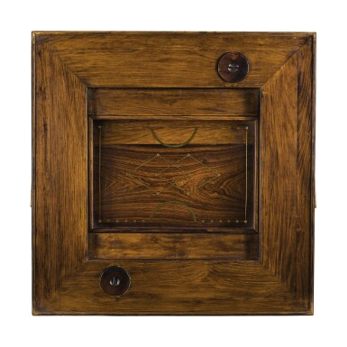 View 3. Thumbnail of Lot 148. A 'huanghuali' and mixed-hardwood square games table, Late Qing dynasty / early 20th century.