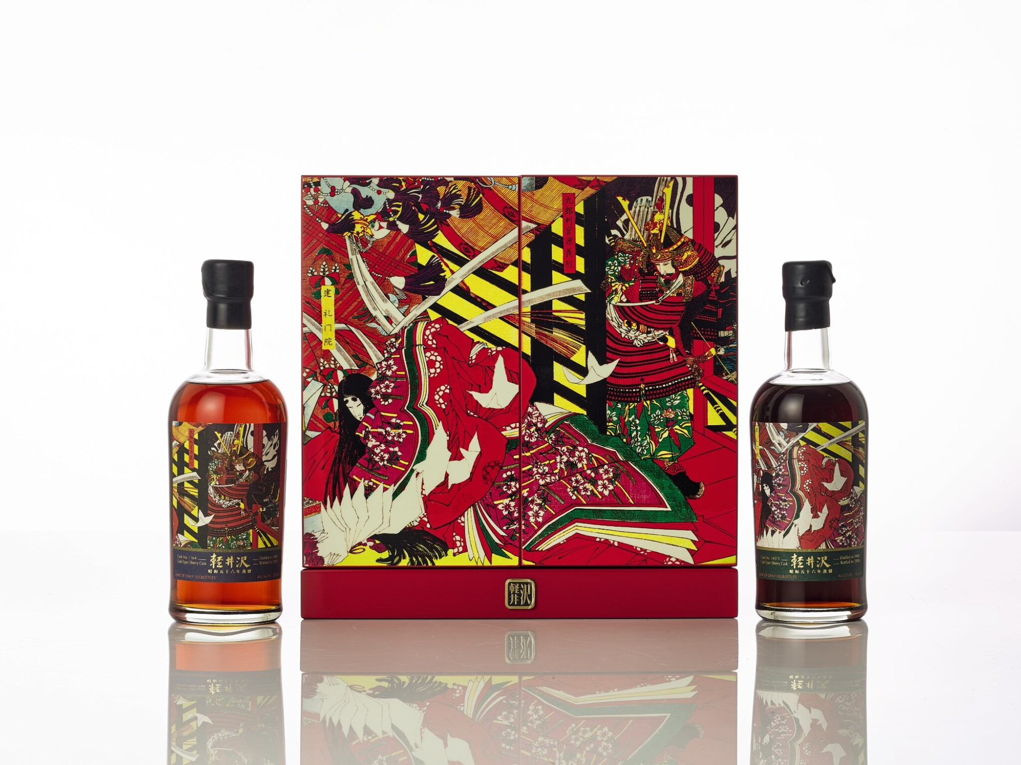 """View full screen - View 1 of Lot 5454. 輕井澤 屋島之戰 Karuizawa 35 Year Old Cask #164 and #4373 """"The Great Battle Of Yashima"""" 1981 (2 BT70)."""