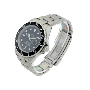 View 2. Thumbnail of Lot 304. ROLEX | REFERENCE 16610 SUBMARINER  A STAINLESS STEEL AUTOMATIC WRISTWATCH WITH DATE AND BRACELET, CIRCA 2002.