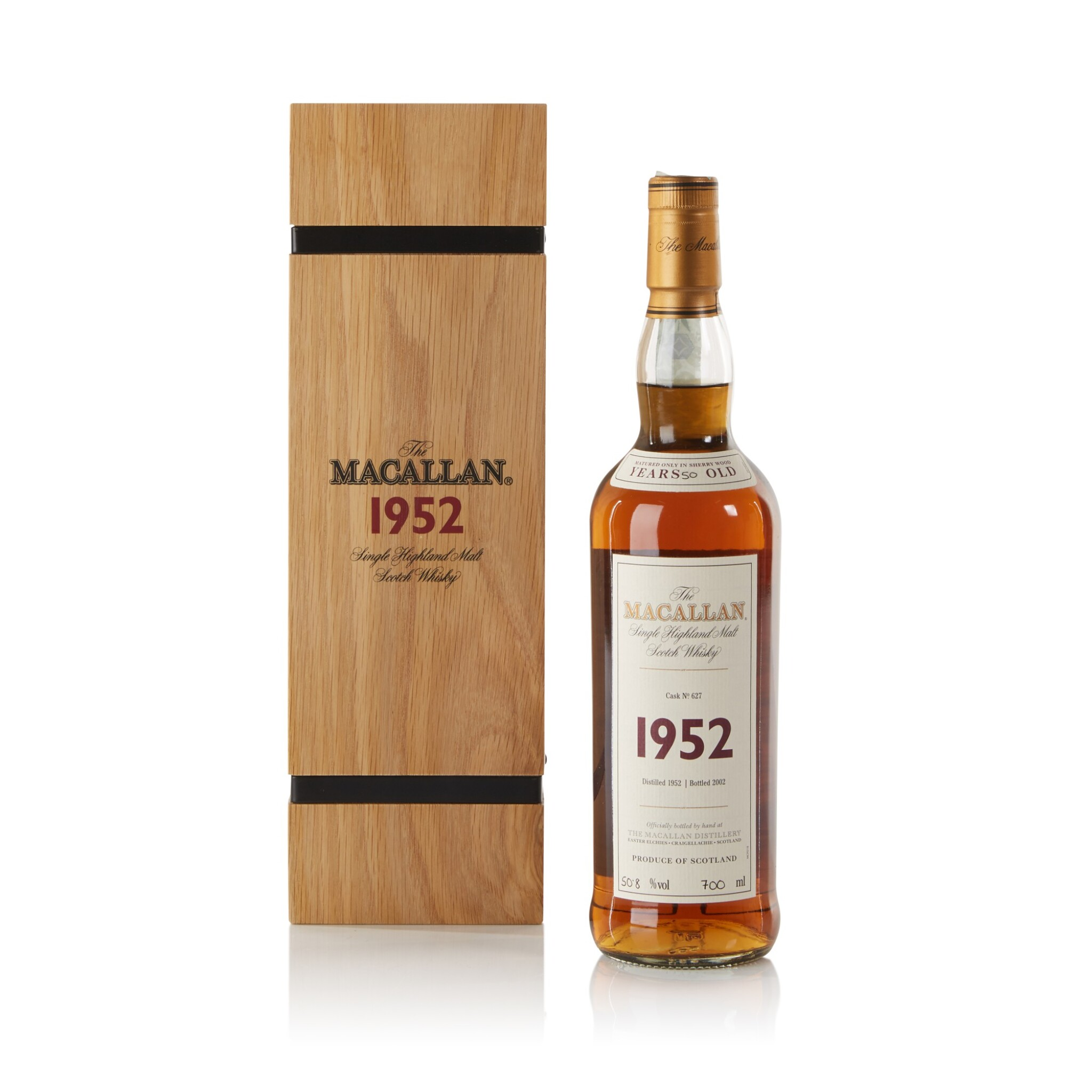 View full screen - View 1 of Lot 33. The Macallan Fine & Rare 50 Year Old 50.8 abv 1952 .