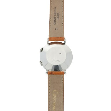 View 5. Thumbnail of Lot 240. MEMOVOX A STAINLESS STEEL ALARM WRISTWATCH, CIRCA 1960.