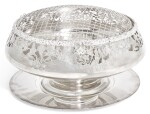AN ELIZABETH II SILVER ROSEBOWL, MAKER'S MARK SC, SHEFFIELD, 1998