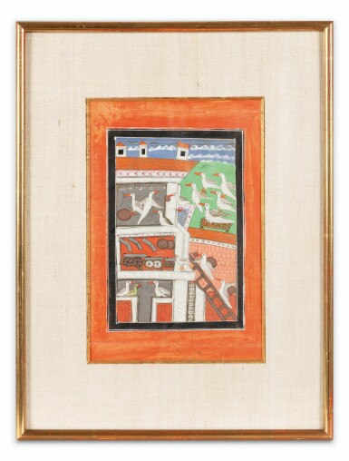View 8. Thumbnail of Lot 37. RAJASTHAN, LATE 18TH CENTURY AND 19TH CENTURY | SIX INDIAN MINIATURES.